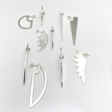 Cutting edge earring collection by Formia design