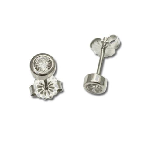 Diamond bezel stud earrings, classic studs for the diamonds in your ear