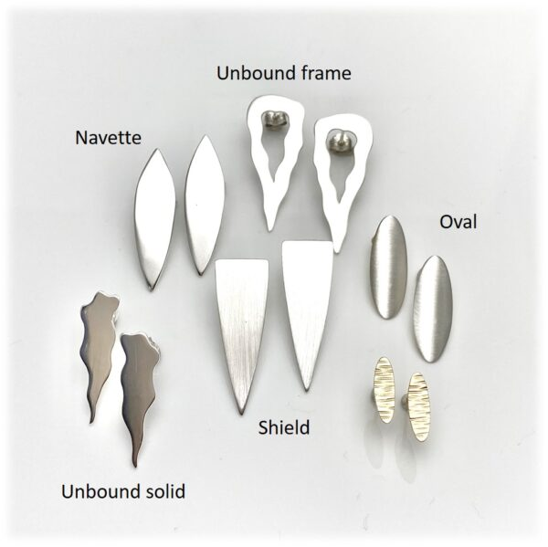 Front shapes for earrings