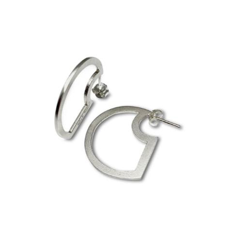 Hoop cutting edge earrings, cute unusual hoop earrings for the woman with a subtle taste