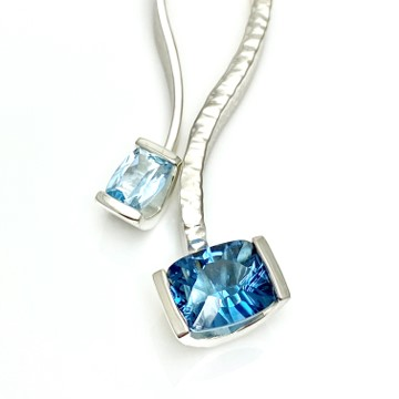 Ocean blue colors in amazing genuine gemstones, handcrafted jewelry made in USA
