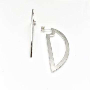 Outline cutting edge earrings , handmade in USA
