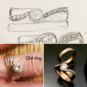 Redesigned wedding rings, new updated design in Rose gold