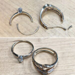 Jewelry repair by Goldsmith Mia van Beek, local jeweler in Charlottesville VA, new ring shanks on worn out wedding rings