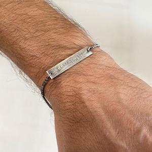 I love you dad bracelet custom made for Father's Day, men's bracelet