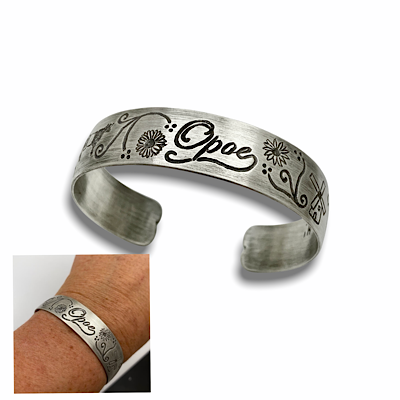 Custom engraved bangle bracelet, use your own drawing ideas for the engraving