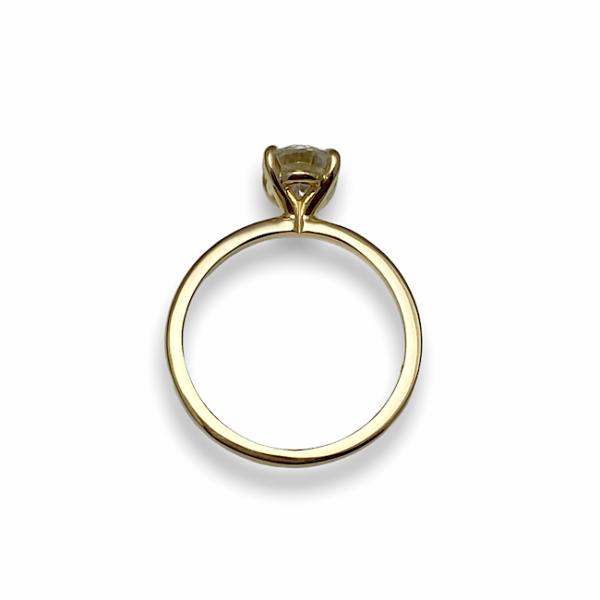 Engagement ring, diamond in timeless setting