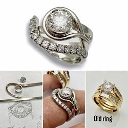 New modern design for Parents wedding ring set.