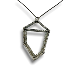 Bisected Polygon Pendant Labradorite gemstones, pendant necklace design